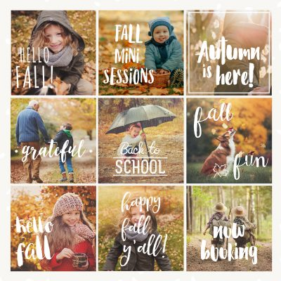 Photography Overlays For Fall