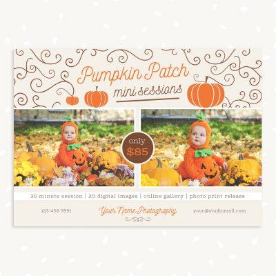 Pumpkin Patch Mini Session Template