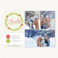 Family mini sessions template for Christmas