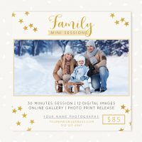 Holiday mini sessions photoshop template