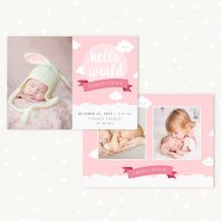 Birth Announcement Template for Photographers
