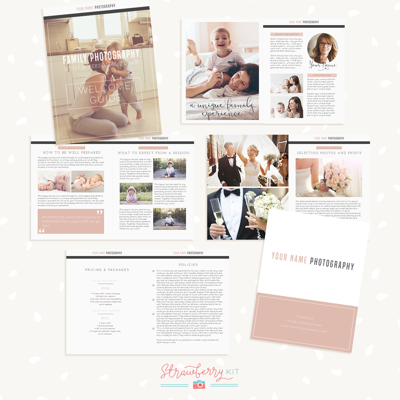 Photography Welcome Guide Template Strawberry Kit