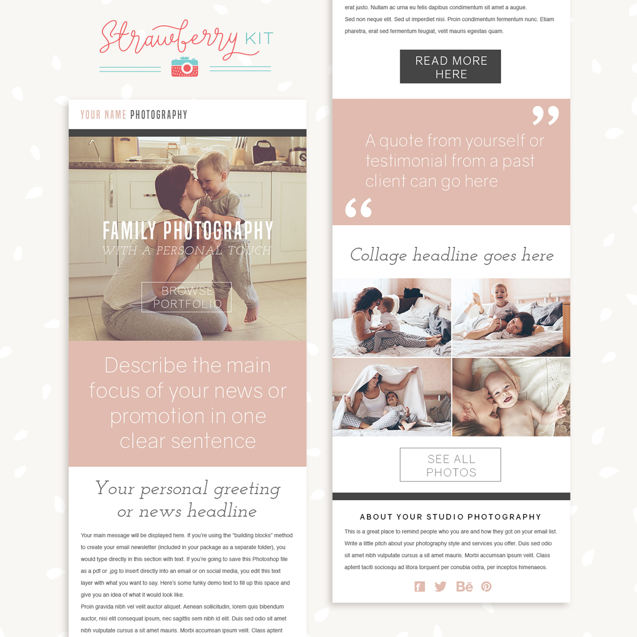 Photography Newsletter Template \