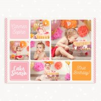 Cake Smash Collage Template