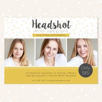 Headshot mini sessions template