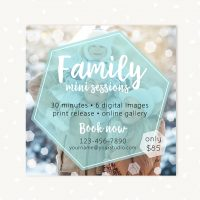 Winter Family Mini Sessions Template