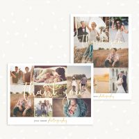Collage photo card template