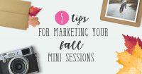 Fall mini sessions marketing