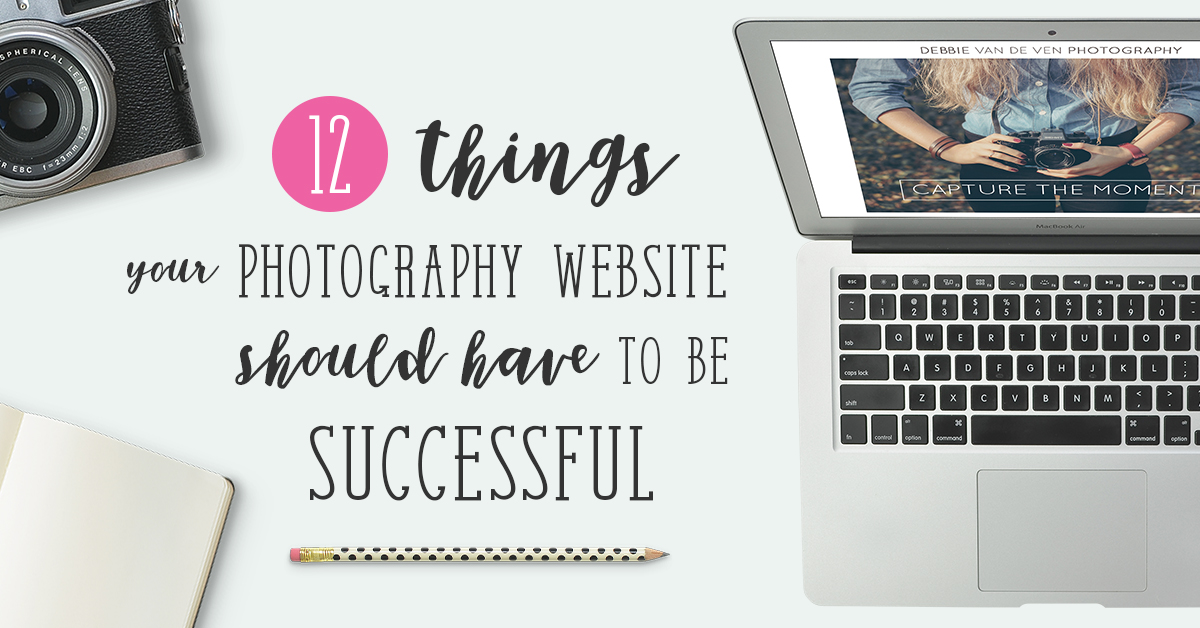 Photography website tips