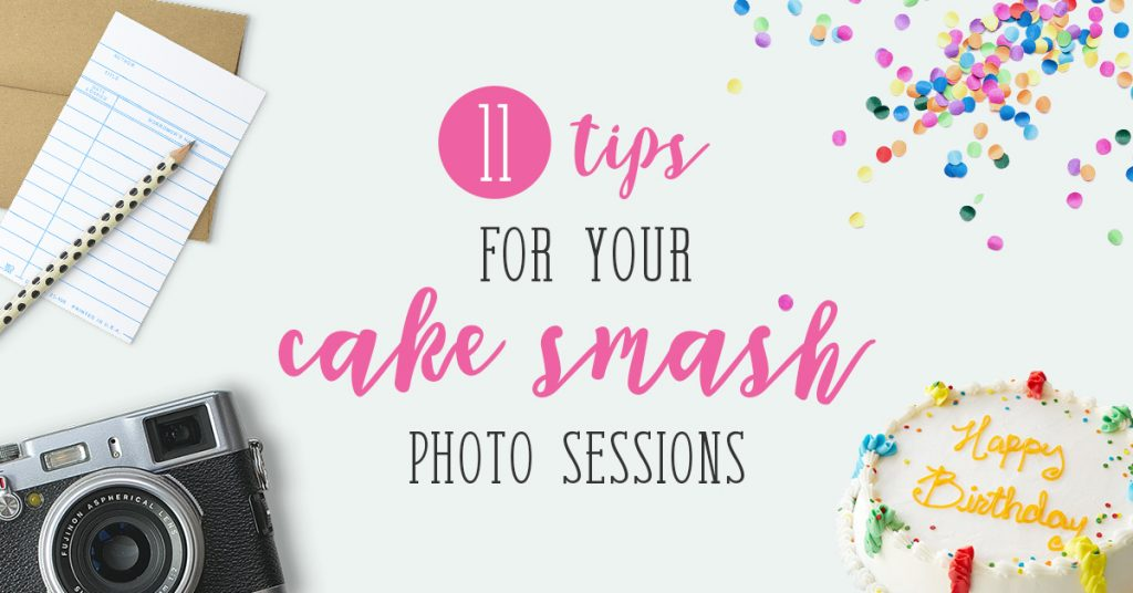 Cake smash photo sessions tips