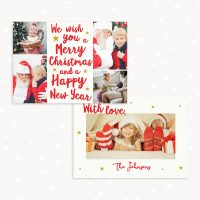 Christmas card Hand Lettering Photoshop
