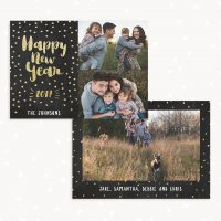 New Year Card Template With Photo