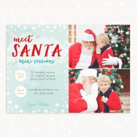 Santa mini sessions template