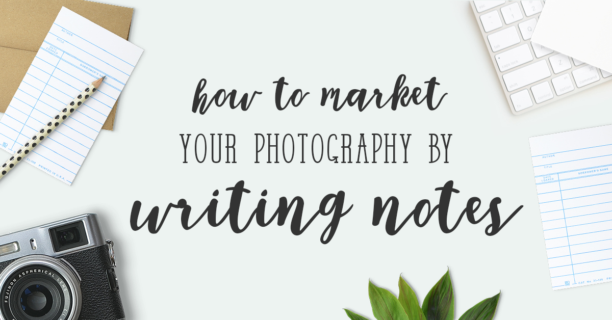 Market photography with notes