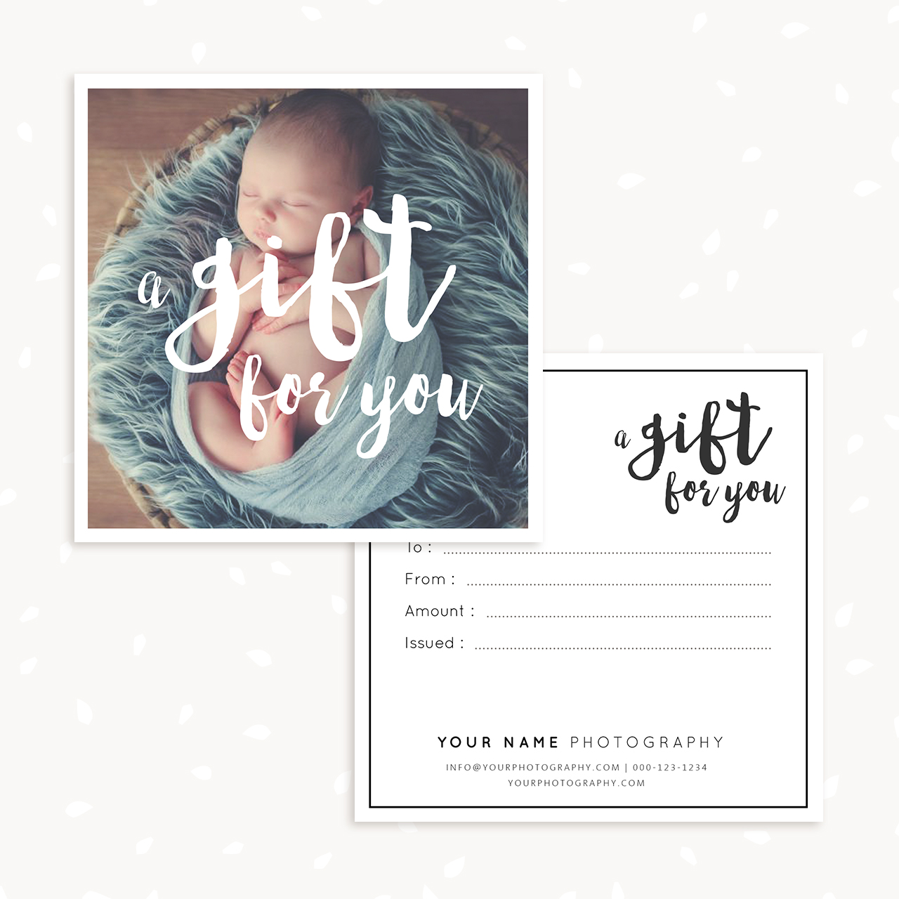 Photography Gift Certificate Template Strawberry Kit