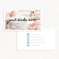 Photography handlettering business card template