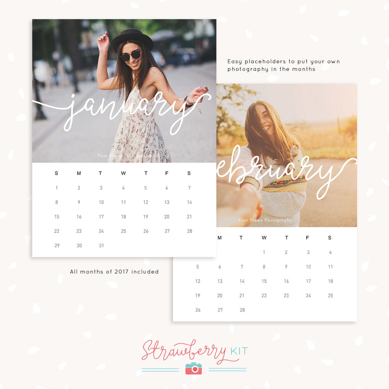 Photography Calendar 2017 : Photography calendar template for photographers