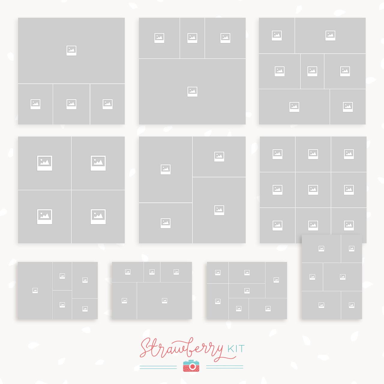 storyboard template bundle strawberry kit
