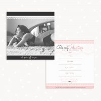 Valentine Boudoir Photography Gift Certificate