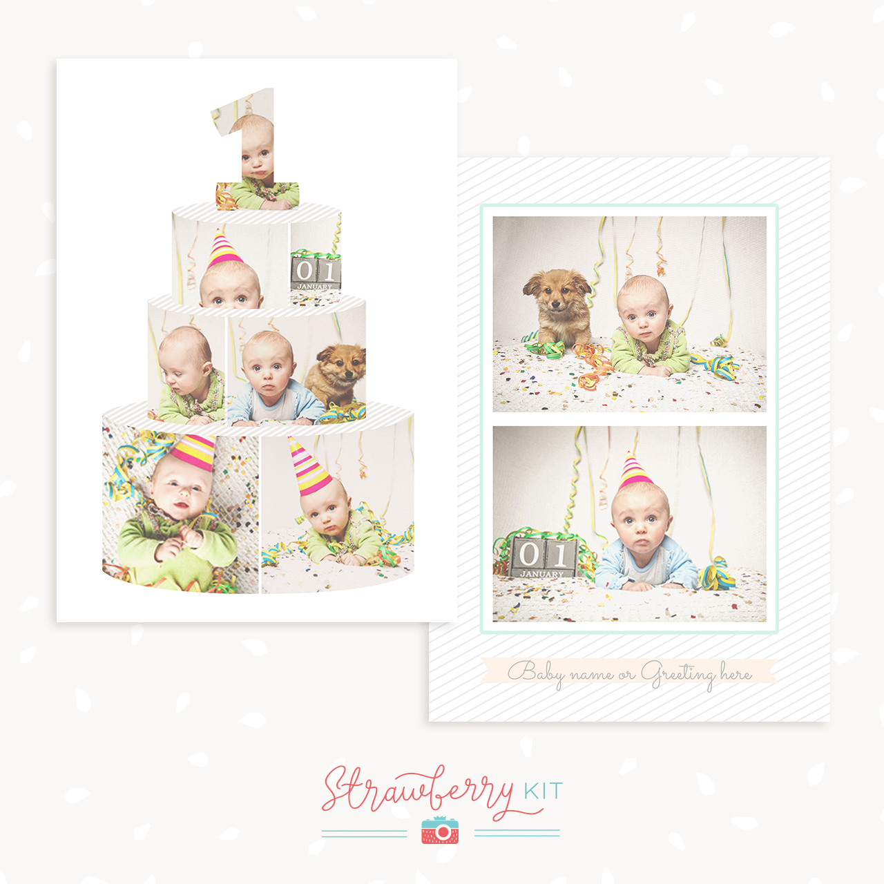 first birthday board template - first birthday card template strawberry kit