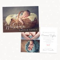 Newborn Announcement Photoshop Template