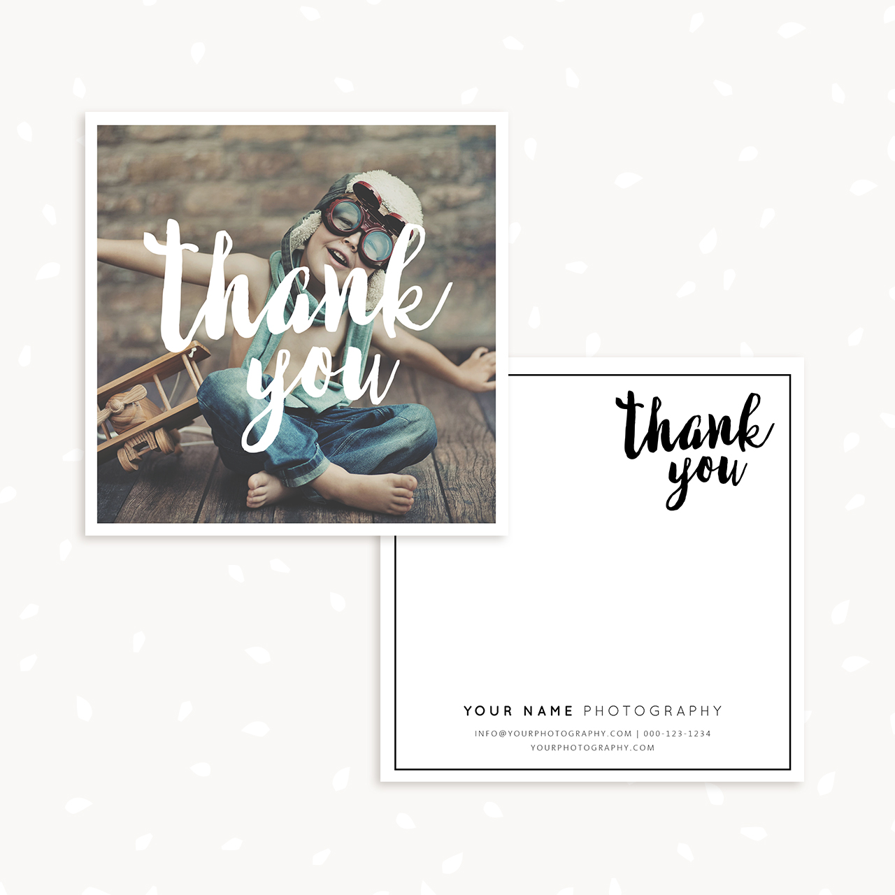 Photography Thank You Card Template Strawberry Kit