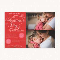 Valentine Mini Sessions Photoshop Template