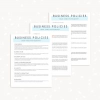 Business Policy Template Photographer