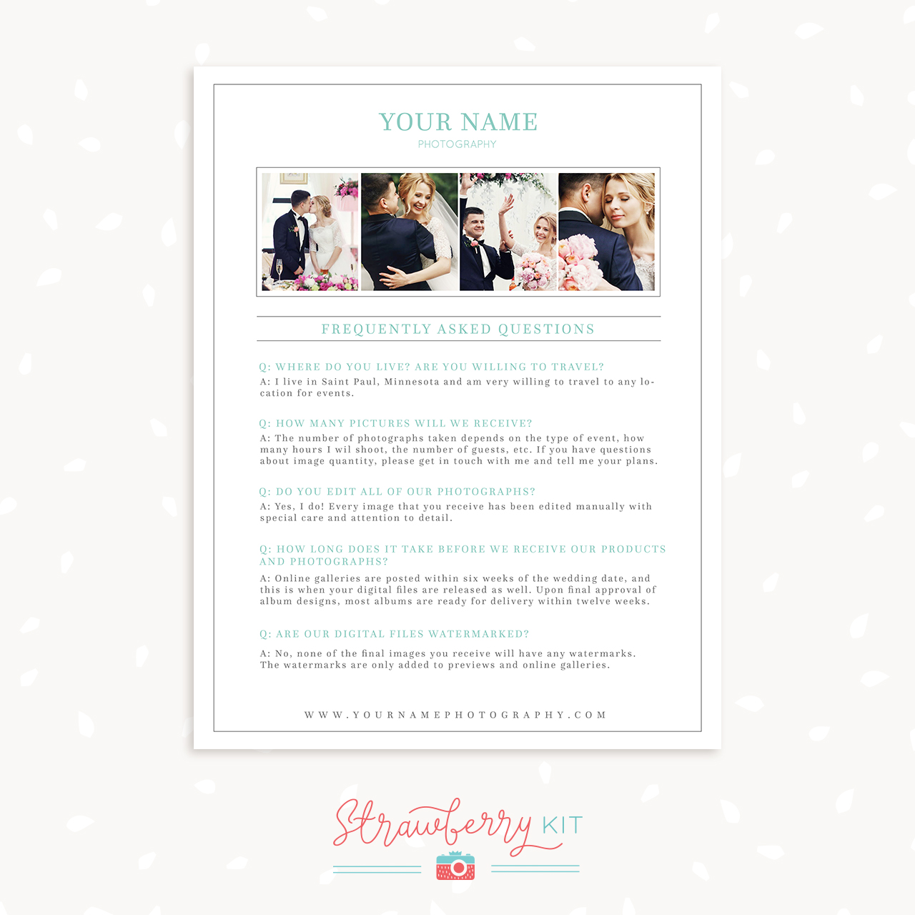 Frequently asked questions template for photographers strawberry kit faq template photographers maxwellsz