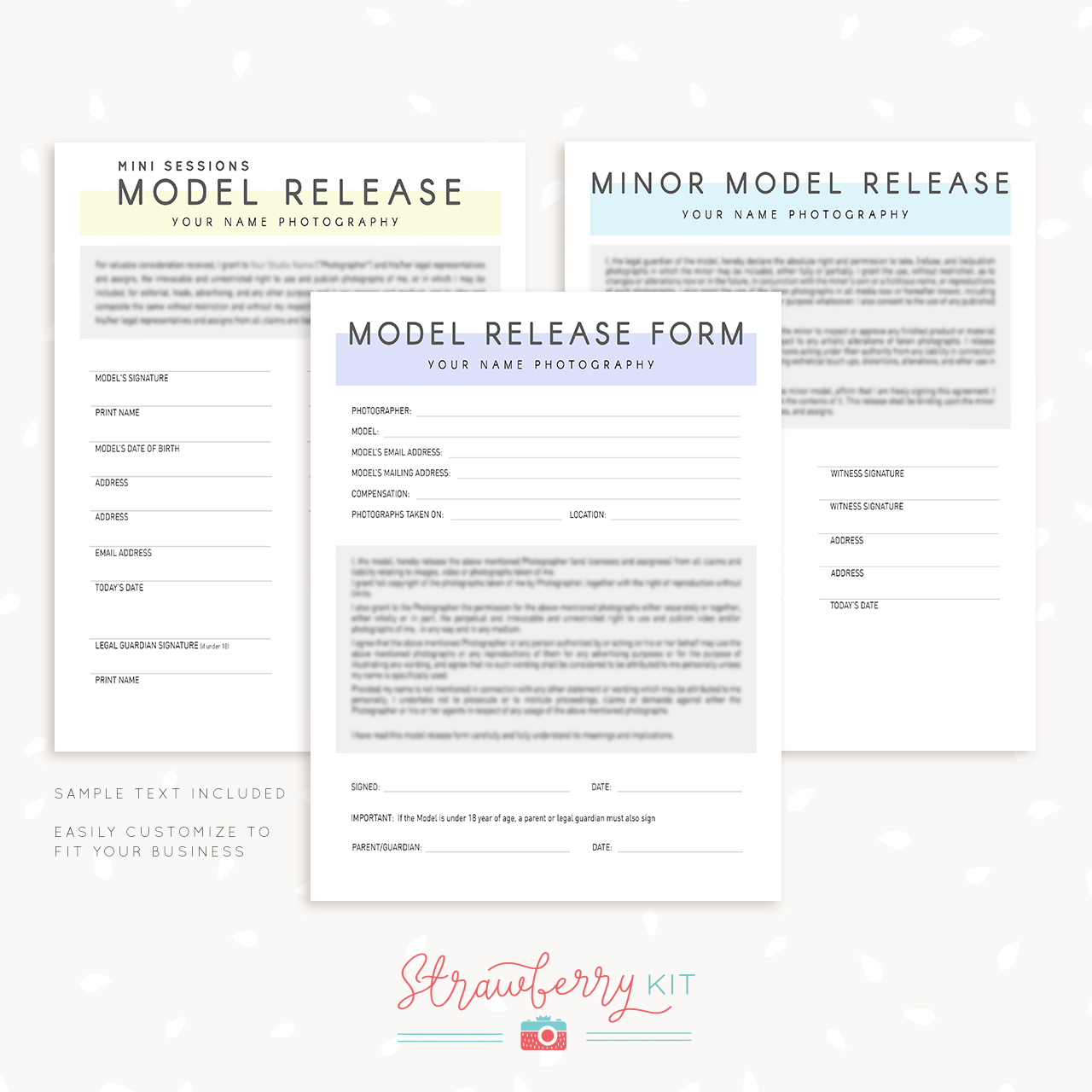 Model Release Form Template Photographers