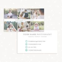 Business Card Template Photographers