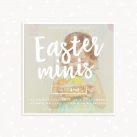Easter square mini sessions template
