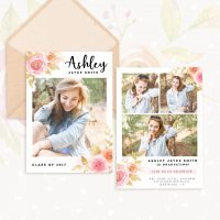 Flowers Graduation Invitation Template