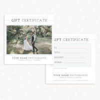 Gift Certificate Photographers Template