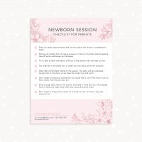 Newborn session parents checklist photographer