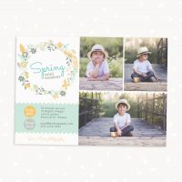 Spring mini sessions template floral