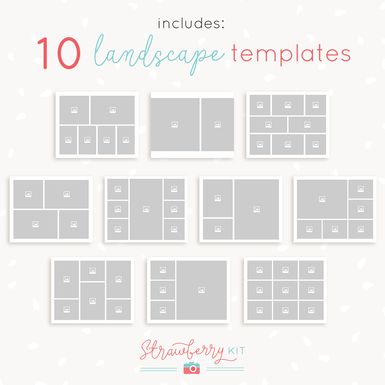 8x10 landscape collage template