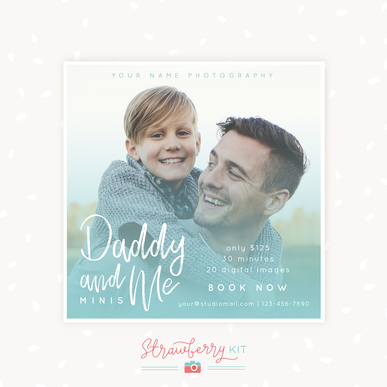 Daddy and me father's day mini sessions template