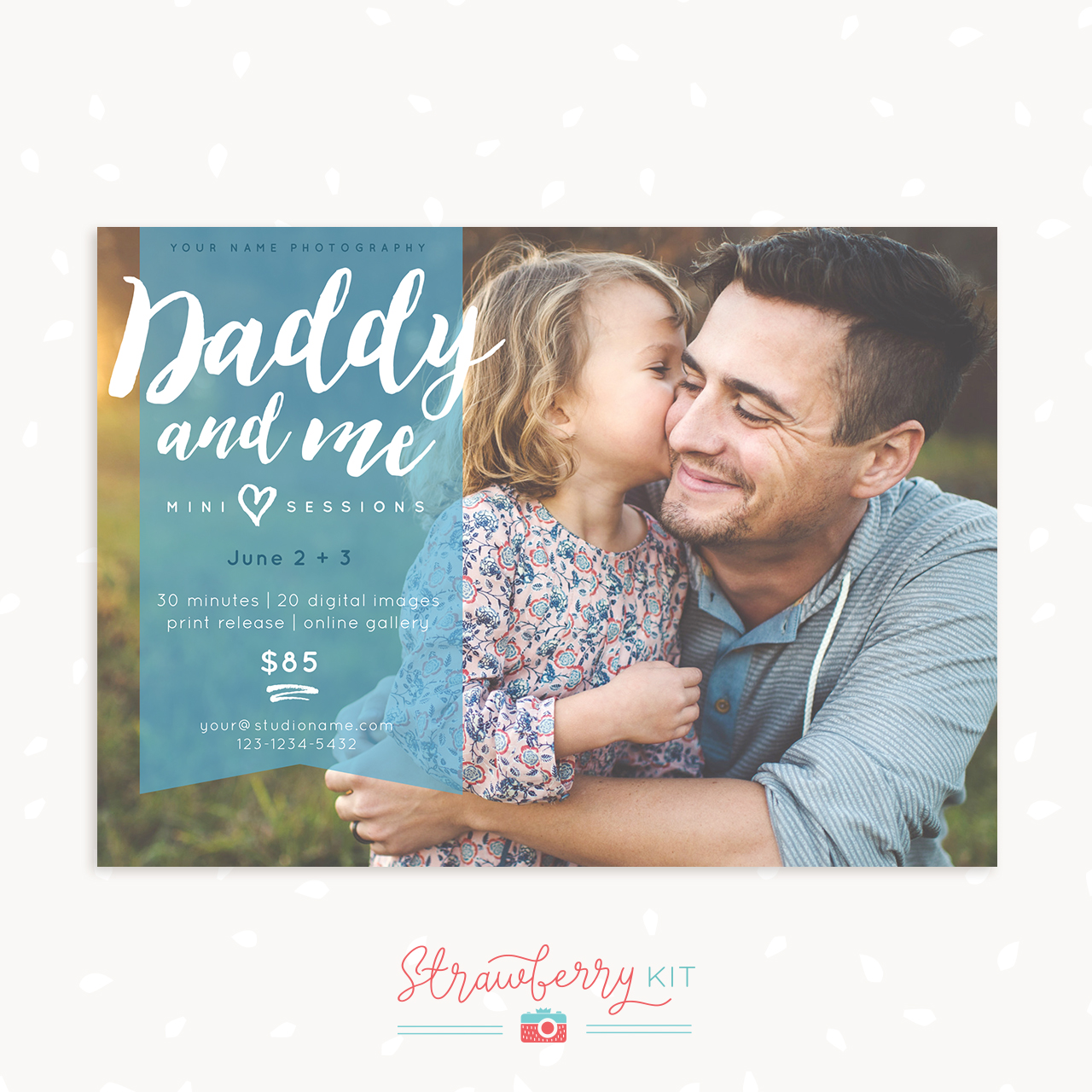 Daddy and me mini sessions marketing board