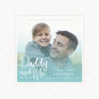 Father's day mini sessions template photographers