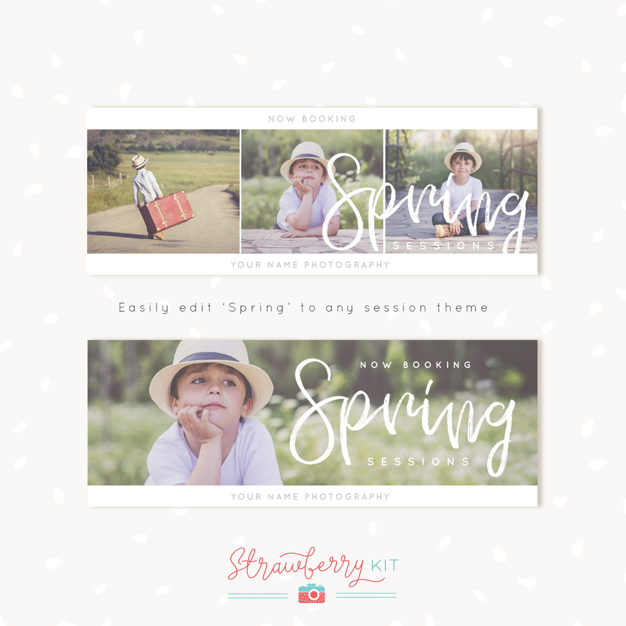 Spring Photography Facebook Covers Template