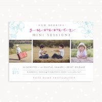 Summer mini sessions marketing board