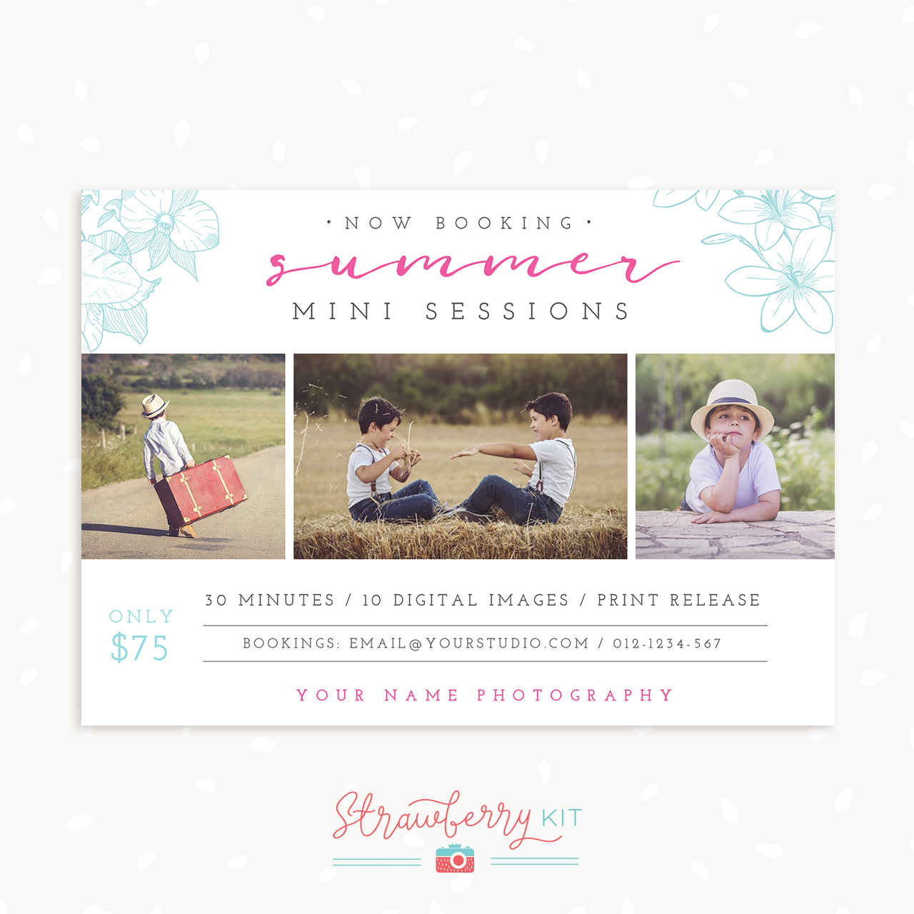 Summer mini sessions template