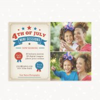 4th of July Mini Sessions Marketing Board