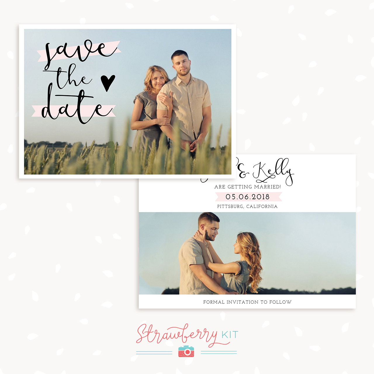 Classic Save the Date card template