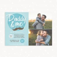 Daddy and me mini sessions template