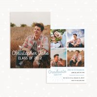 Guy senior graduation invitation template
