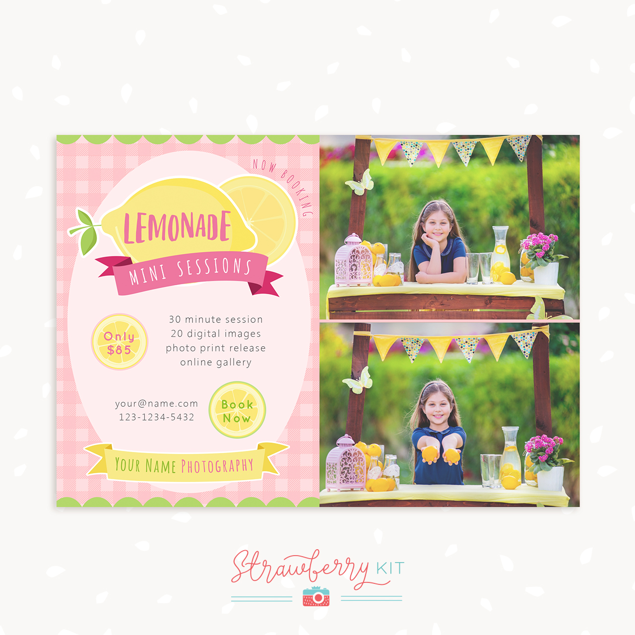 Lemonade stand mini sessions template