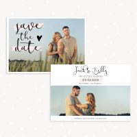 Save the Date Card Template Set