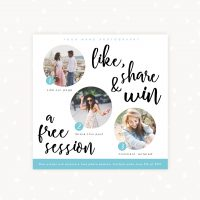 Social media template share & win